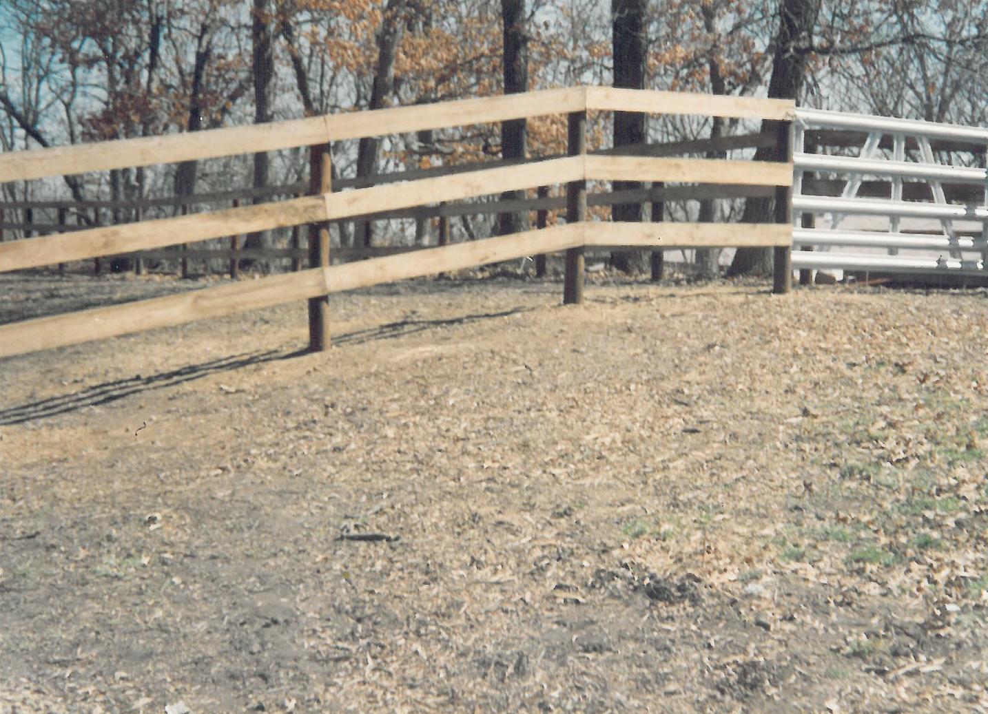 Wood Corral Fencing